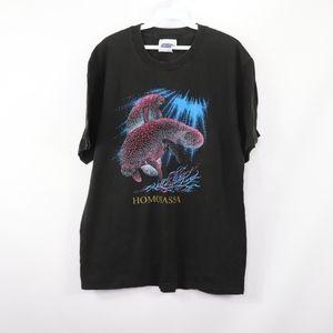 90s Mens Medium Florida Manatee Graphic T Shirt